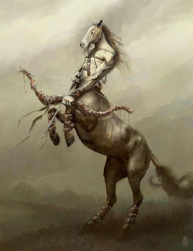 zodiac monsters fantasy digital art damon hellandbrand 9