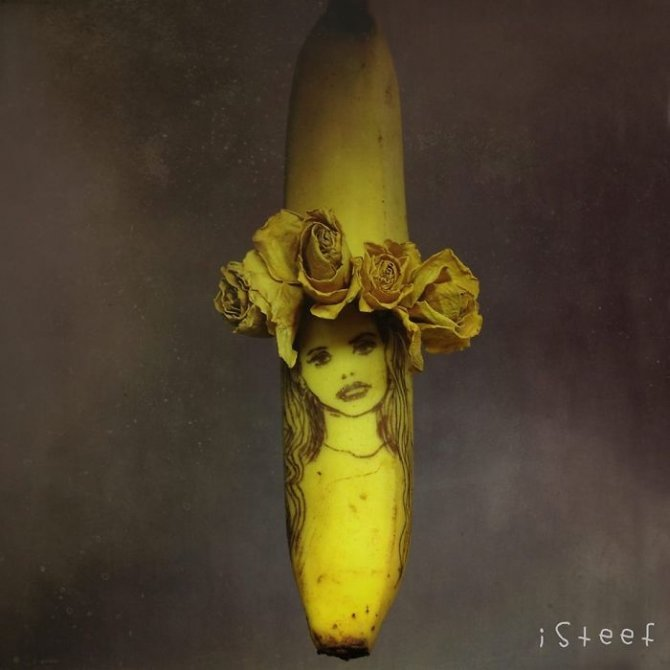 banana drawings fruit art stephan brusche 12