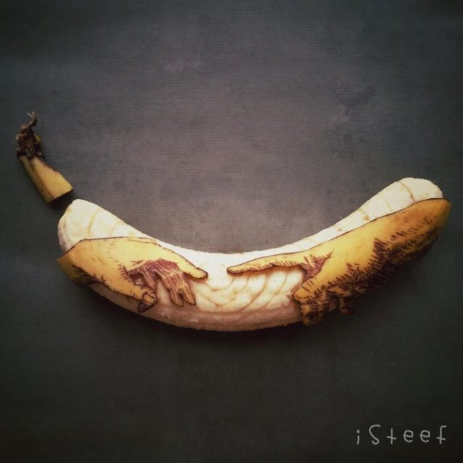 banana drawings fruit art stephan brusche 2