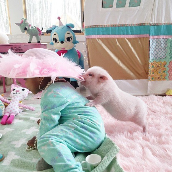 little girl piglet friendship libby and pearl 2 605x605