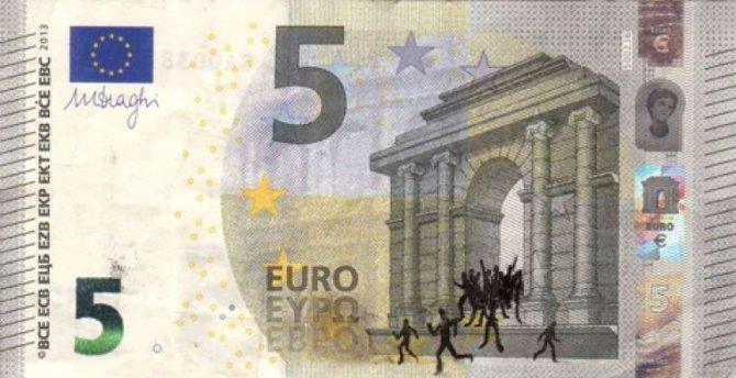 banconote euro protesta grecia 4