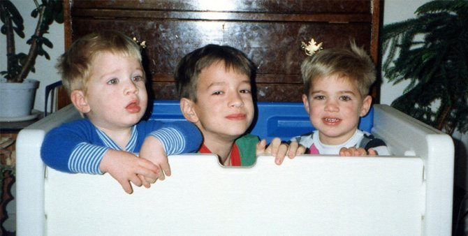 three brothers remake childhood photos christmas calendar gift 16