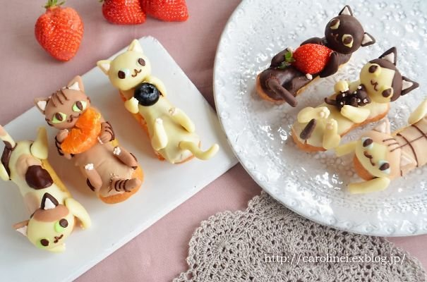 I create adorable cat sweets12 605