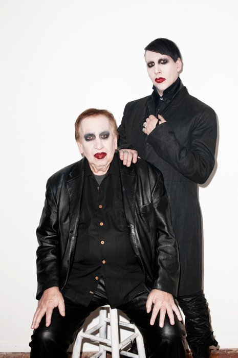 Marilyn Manson and dad by Terry Richardson