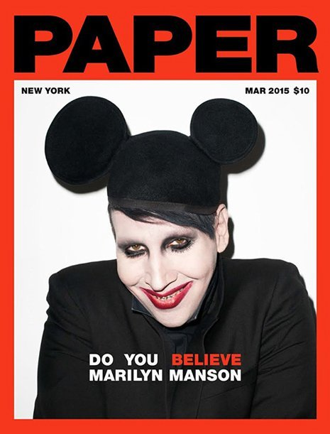 Paper cover Marilyn Manson