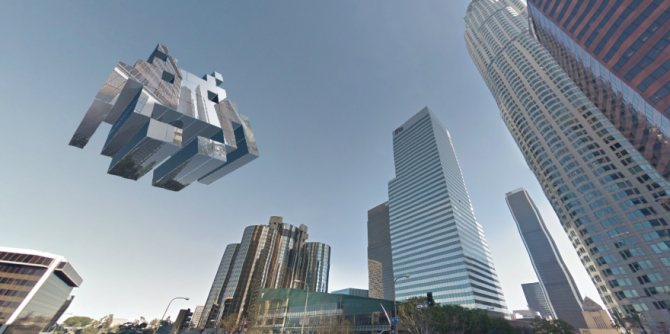 Truck Driver Designs Space Invaders Inspired Objects Using Google Street View Images 880