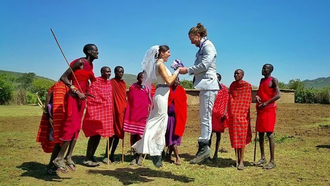 couple wedding around the world travel cheetah rhiann 10