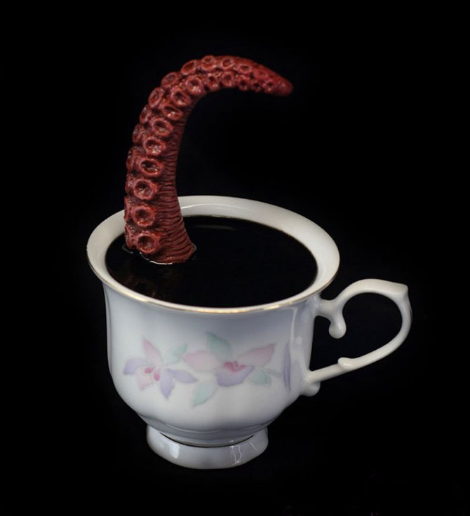 cthulhu tentacle octopus teacup michael palmer voodoo delicious 8