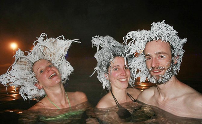 icy hair freezing contest takhini hot springs 1