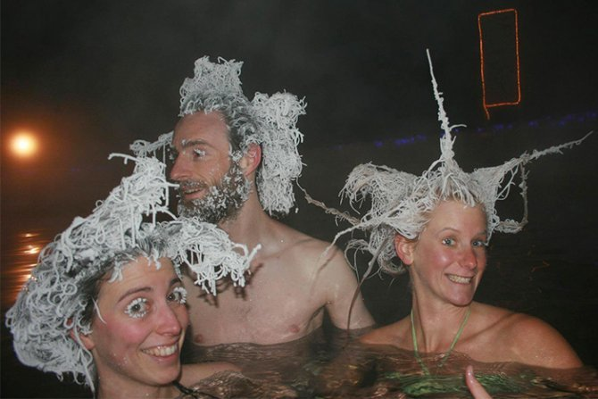 icy hair freezing contest takhini hot springs 3