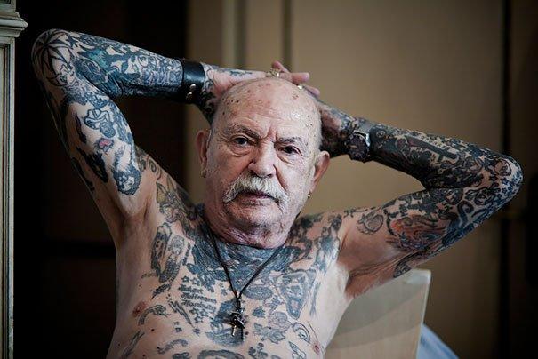tattooed elderly people 15 605