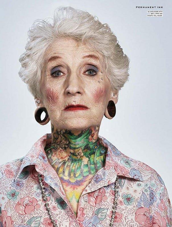 tattooed elderly people 7 605
