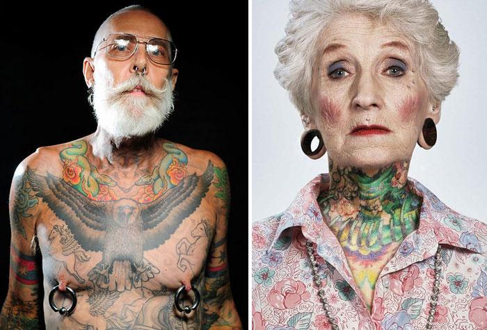 Come saranno i nostri tatuaggi quando avremo 60 anni? Fighi.