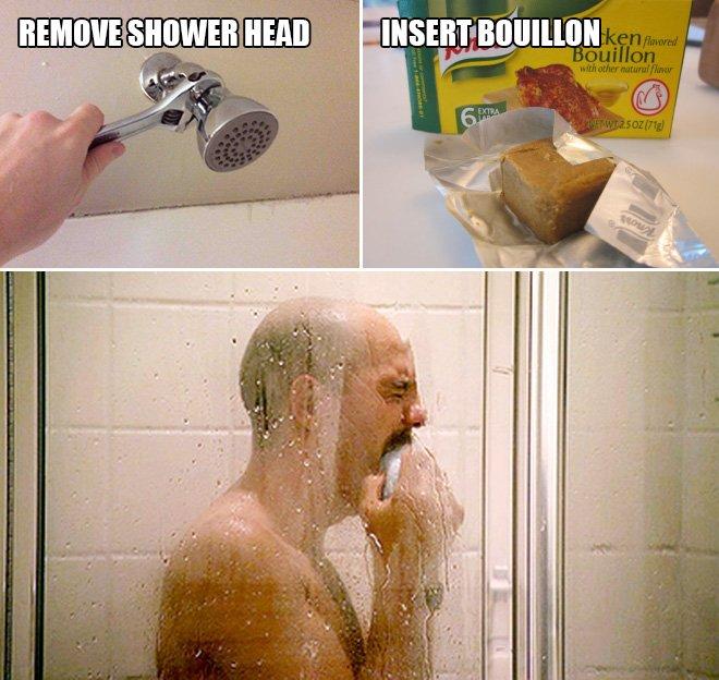 april fools shower