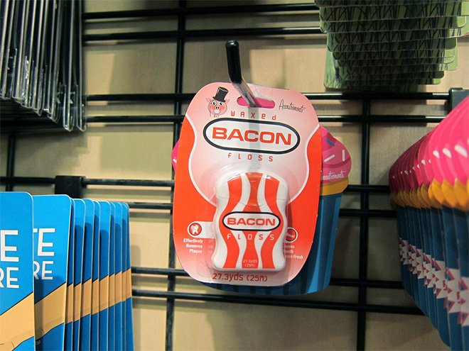 bacon dental floss