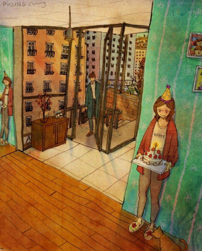 illustrazioni amore piccole cose 6