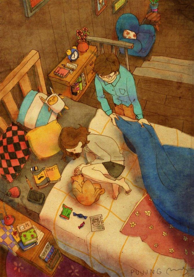 illustrazioni amore piccole cose 2