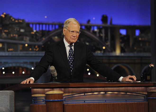 David Letterman ends his final broadcast of the Late Show with David Letterman, Wednesday May 20, 2015 on the CBS Television Network. After 33 years in late night television, 6,028 broadcasts, nearly 20,000 total guest appearances, 16 Emmy Awards and more than 4,600 career Top Ten Lists, David Letterman says goodbye to late night television audiences. The show was taped Wednesday at the Ed Sullivan Theater in New York.  Photo: Jeffrey R. Staab/CBS ©2015 CBS Broadcasting Inc. All Rights Reserved
