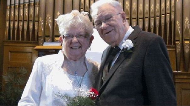 XX Elderly Couple Wedding Photos Proving That You Are Never Too Late To Find The One2 605