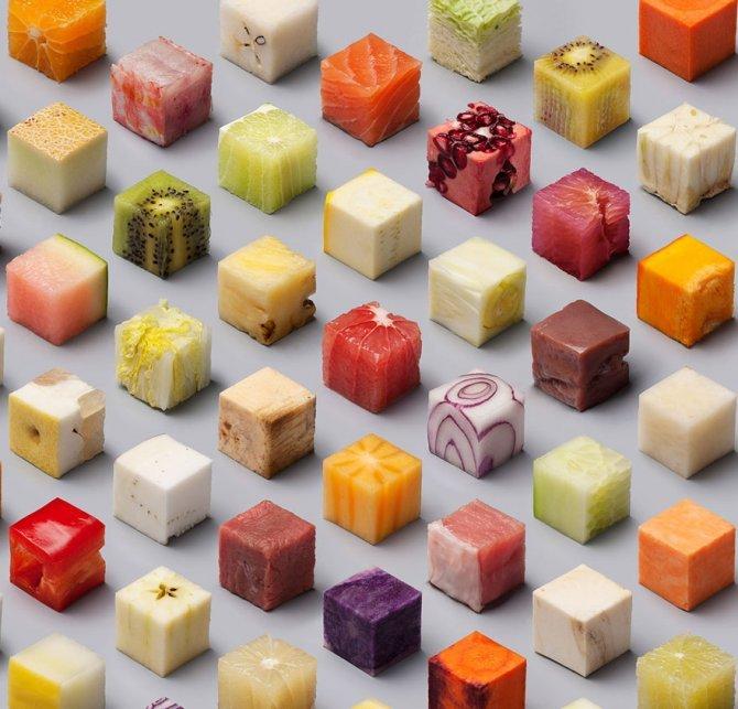 cibo tagliato cubi 2