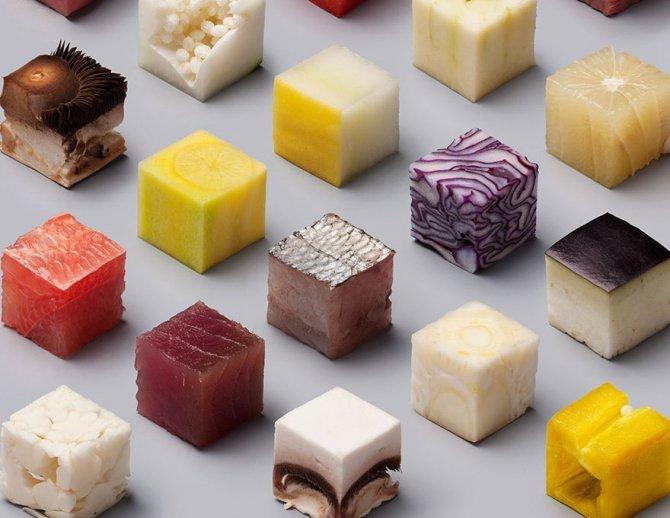 cibo tagliato cubi 3