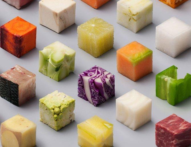 cibo tagliato cubi 4