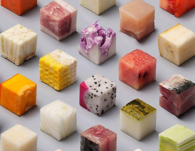 cibo tagliato cubi 6