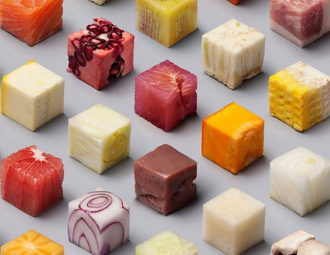cibo tagliato cubi 5