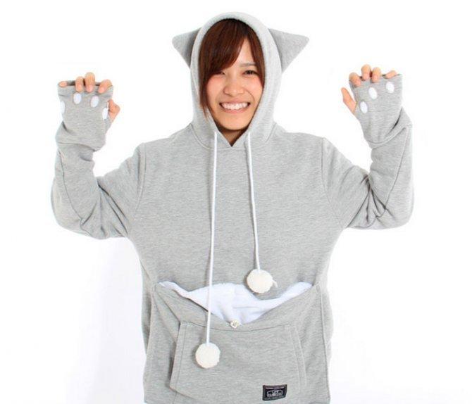hoodie cat pouch pocket sweatshirt mewgaroo 15