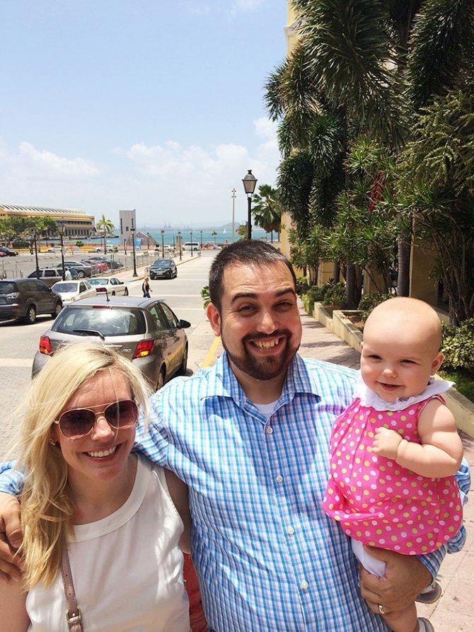 sad vacation guy has fun wife baby puerto rico 13