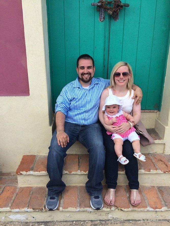 sad vacation guy has fun wife baby puerto rico 8