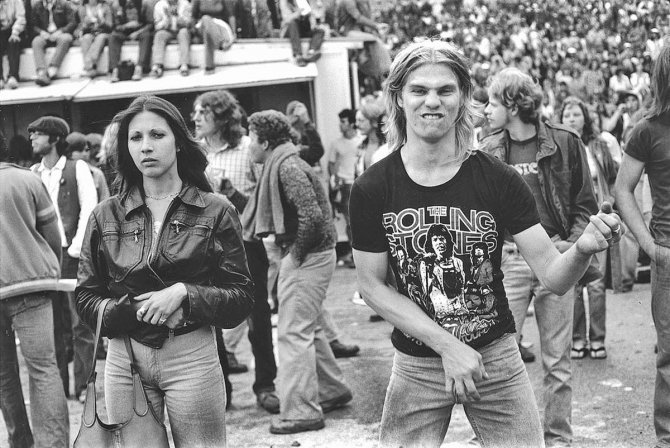 Rolling Stones fans 1978 air guitar