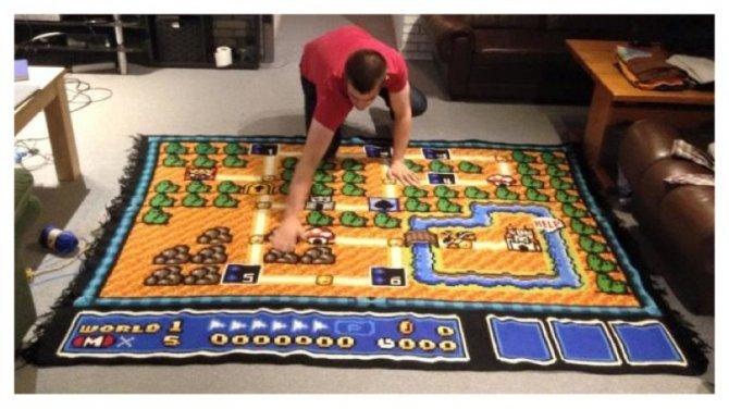 tappeto coperta super mario 2