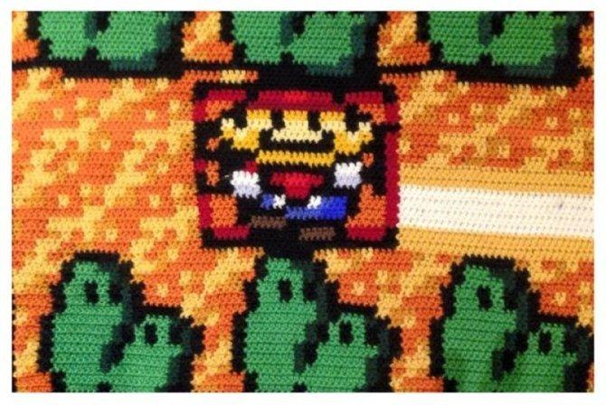 tappeto coperta super mario 4
