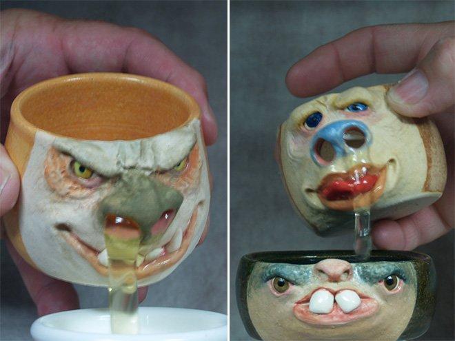 pottery egg yolk