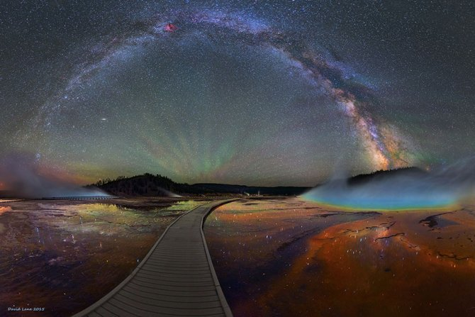 colorful milky way photographs yellowstone park 1