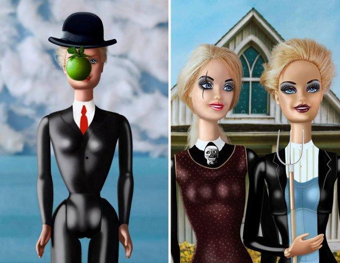 masters paintings barbie dolls 14