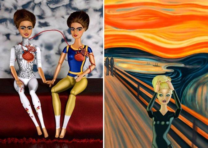 masters paintings barbie dolls 15