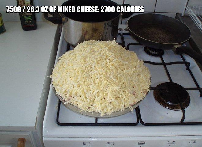 pizza calorie 10
