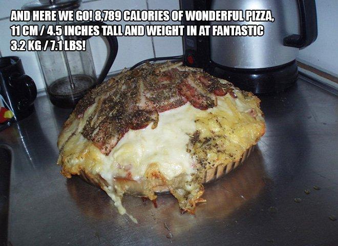 pizza calorie 14