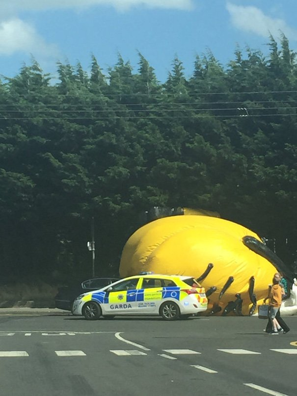 inflatable minion despicable me loose traffic ireland 6