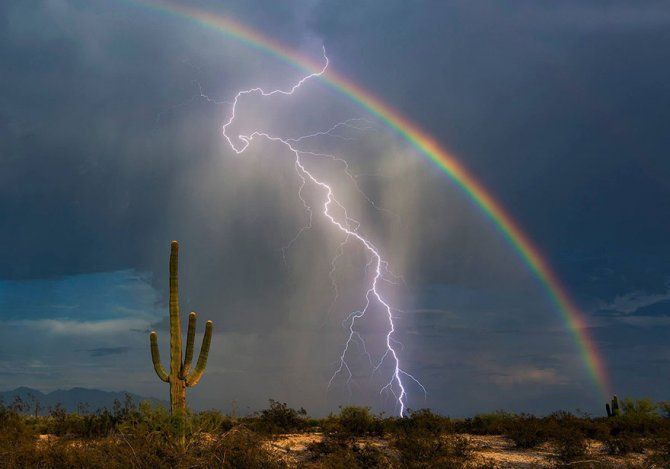 rainbow lightning together one photo greg mccown 1