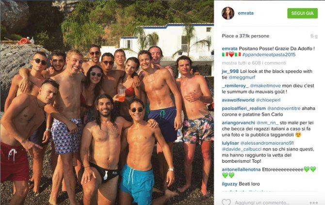 emily ratajkowski instagram foto italia