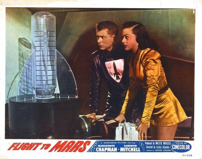 Immagine promozionale di Flight to Mars del 1950, primo film dedicato alla conquista di Marte