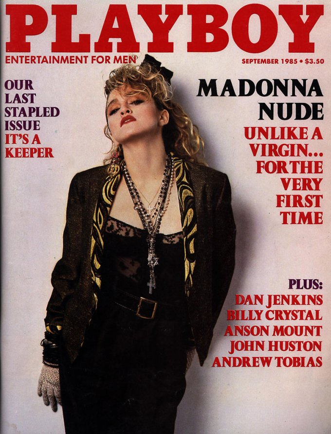 381154 03: Singer Madonna poses on the cover of Playboy magazine (September 1985 issue). (Photo courtesy of Playboy/Delivered by Online USA)