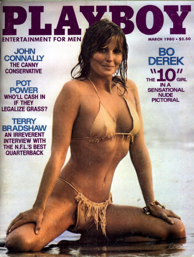 381179 05: Actress Bo Derek poses on the cover of Playboy magazine (March 1980 issue). (Photo courtesy of Playboy/Delivered by Online USA)