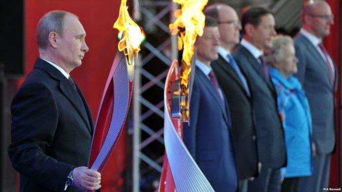 Vladimir Putin all'inaugurazione delle Olimpiadi di Soci