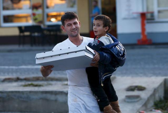 pizza migranti