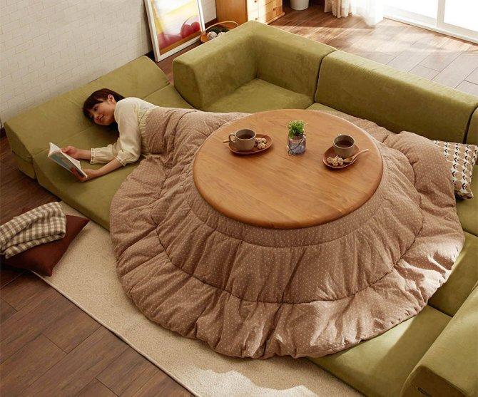 kotatsu japanese heating bed table 24
