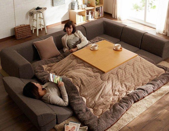 kotatsu japanese heating bed table 25
